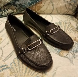 COACH Flynn Black Leather Loafers